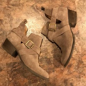Jessica Simpson leather ankle boots